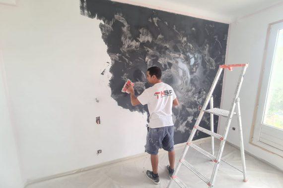 Artisan KS Peinture 06 applique du stuco noir