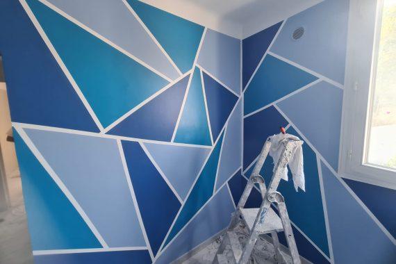 Murs d'une chambre d'enfant décoré style 3D